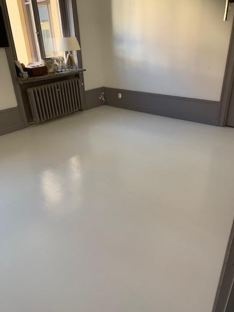 Målning av golv